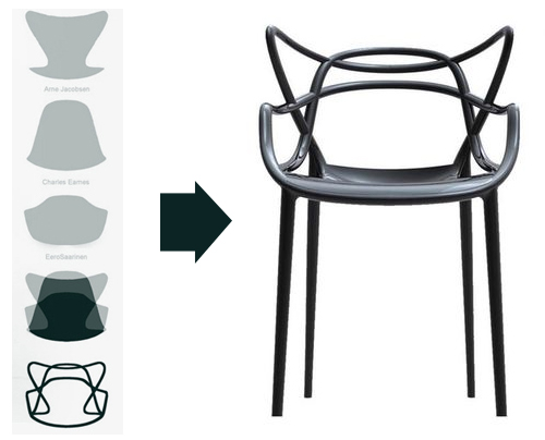 la chaise masters par philippe starck et eugeni quitllet pour kartell recomposer trois chefs d. Black Bedroom Furniture Sets. Home Design Ideas
